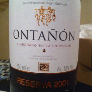 Ontanon Reserva label