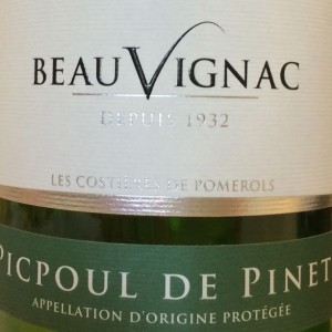 Beauvignac picpoul label
