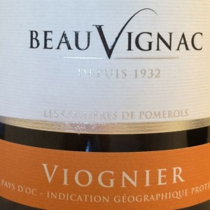 Beauvignac viogner label